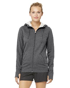 All Sport Ladies' Performance Fleece Full-Zip Hoodie with Runner's Thumb
