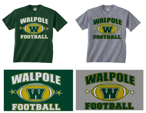 Walpole Youth Football & Cheer Tees in Silkscreened Print
