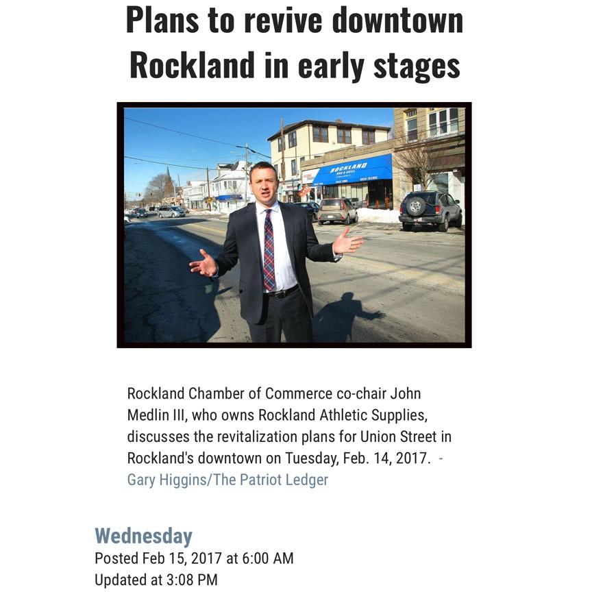 Rockland Chamber Of Commerce Plans to revive downtown Rockland in early stages (Wednesday, February 15th, 2017