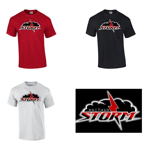 Whitman Storm Baseball, Tee Mock-Ups