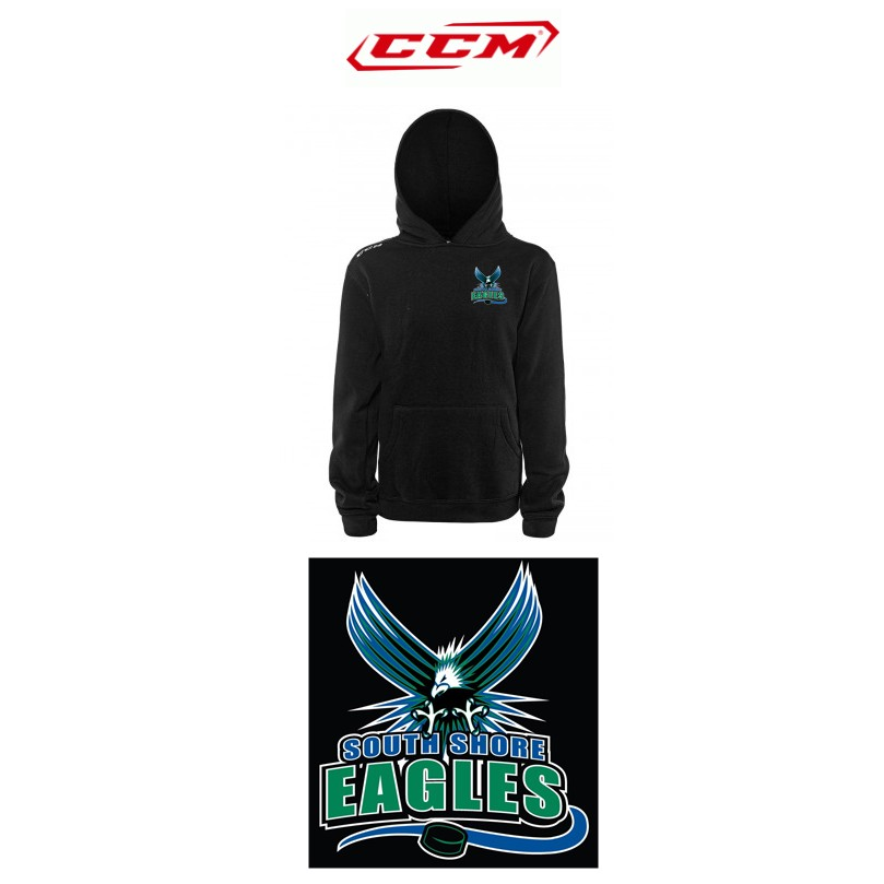 South Shore Eagles CCM Team Fleece Hockey Lace-Up Hoodie Jr (Youth)