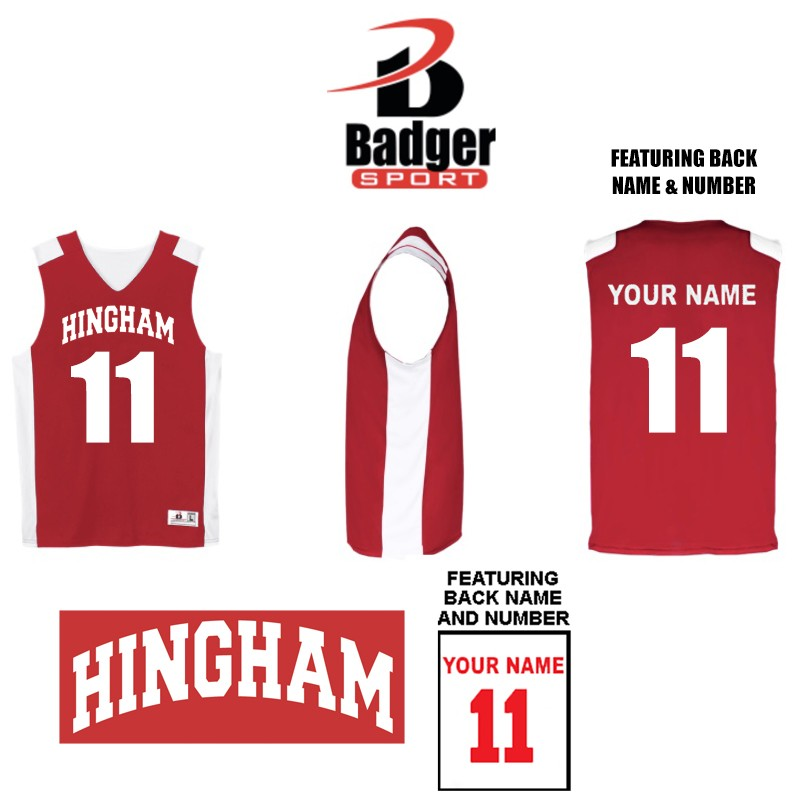 Hingham Girls Basketball Travel Team Exclusive Badger B-Power Rev. Youth Tank Jersey
